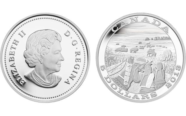 2013-bison-hunt-silver-coin-together