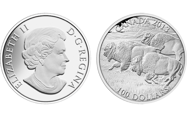 The Fight Canada $20 Dollars Silver Proof Coin 1 oz 2014 Bison