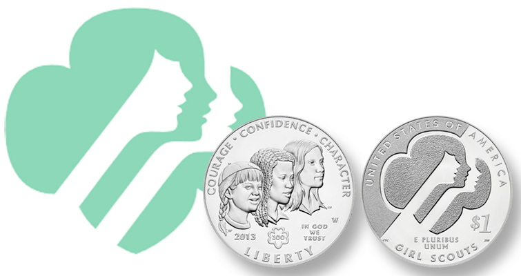 2013 silver dollar Girl Scouts of the United States of America lead