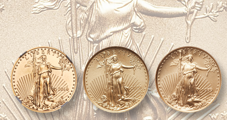 American Eagles present trio of tenth-ounce gold rarities ""