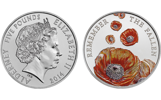 Royal Mint marks Remembrance Day with £5 coins struck for Alderney