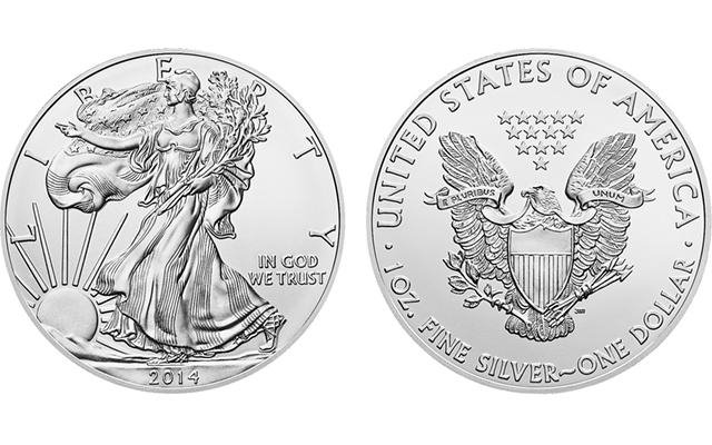 U.S. Mint sets new silver Eagle sales record of 44,006,000 silver bullion coins in 2014
