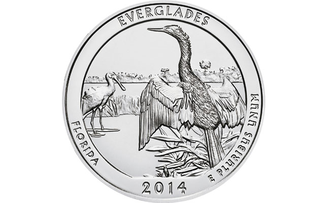 Five ounce silver Everglades coin set for Mint launch