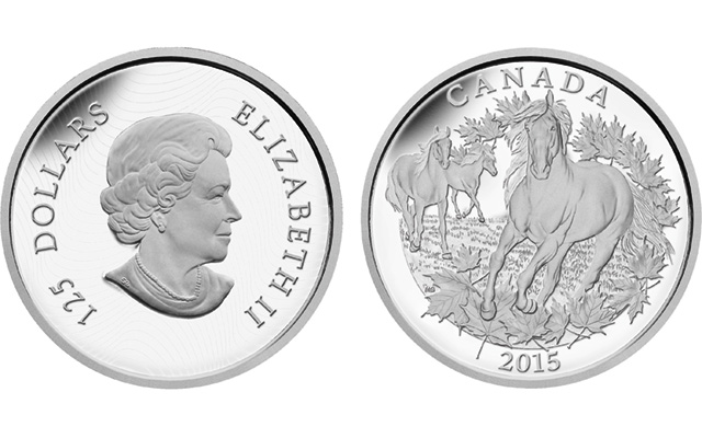 Canada issues half-kilogram pure silver $125 coin showing Canadian horse