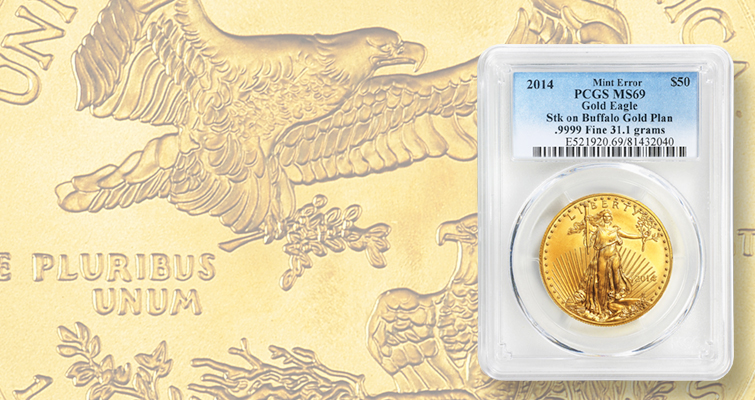 What are the odds of a gold American Eagle being struck on the wrong planchet?