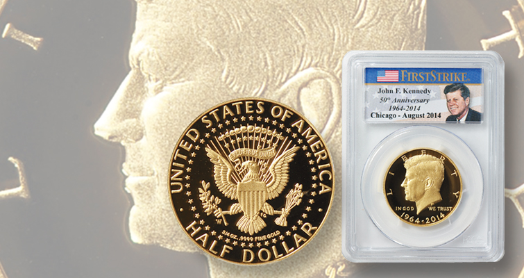 Proof 2014-W Kennedy gold half dollar: What a 'perfect' example sold for recently