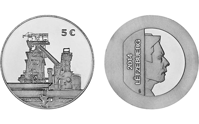 Stainless steel in spotlight on new commemorative coin from Luxembourg