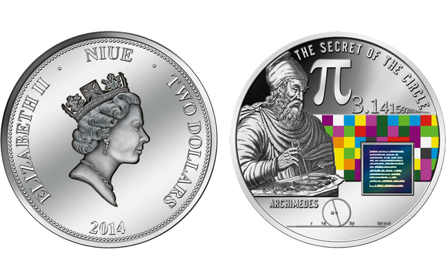March 14 is Pi Day: yep, there's a coin for that!