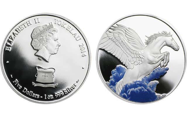 2014-tokelau-pegasus-silver-5-dollar