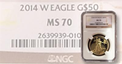 Counterfeit 2014-W Proof one-ounce gold eagle