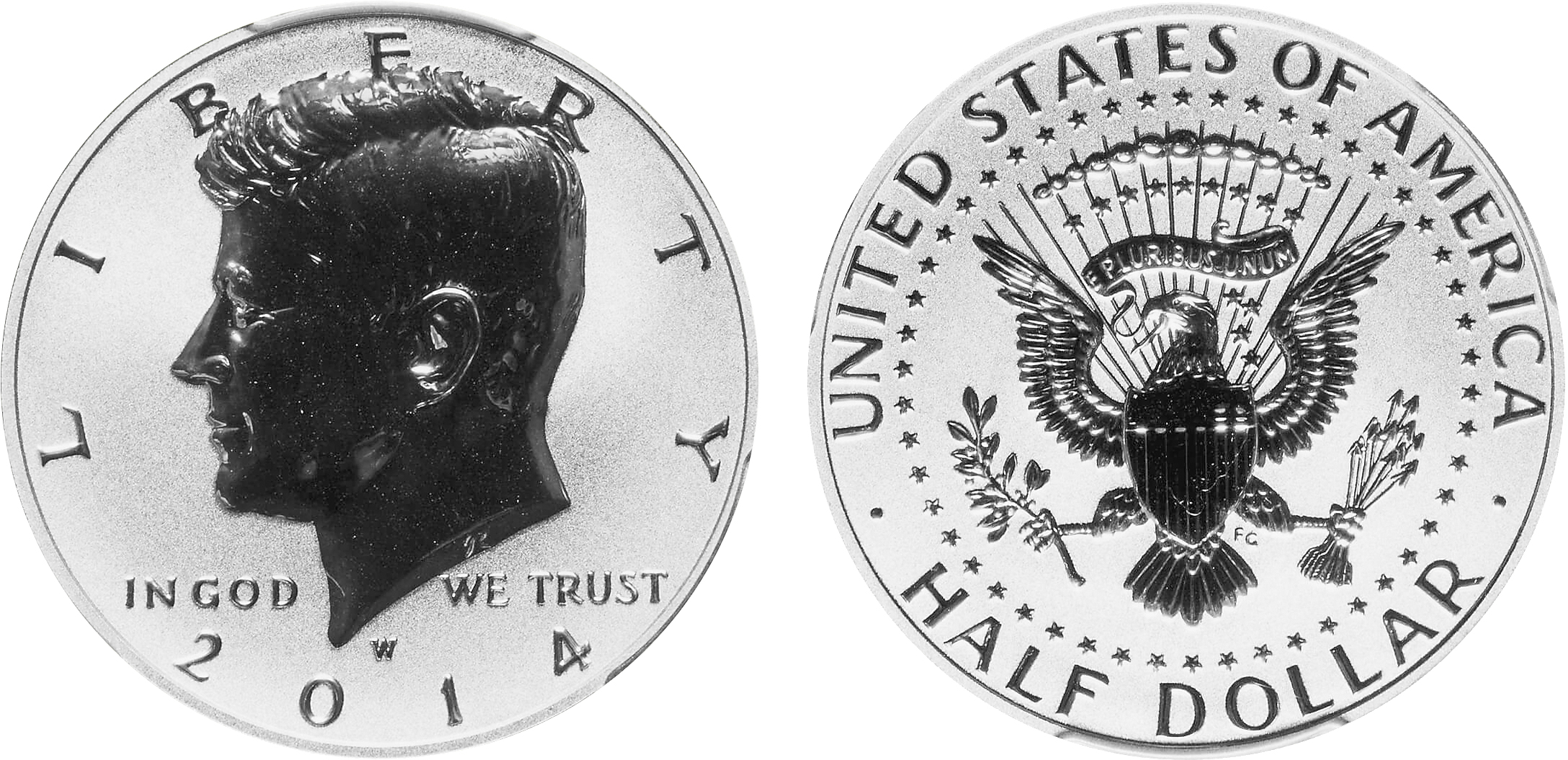 2014-W Reverse Proof Kennedy half merged