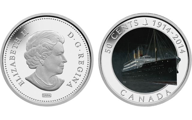 Two new coins from Canada mark tragic sinking of RMS Empress of Ireland 100 years ago
