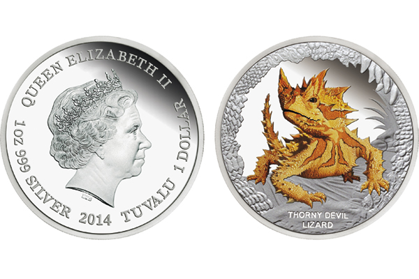 Downies offers second Proof silver dollar in annual Remarkable Reptiles series from Tuvalu