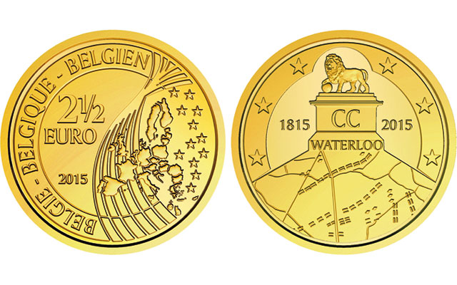 Belgium remembers Waterloo with €2.5 coin after circulating €2 coin is nixed