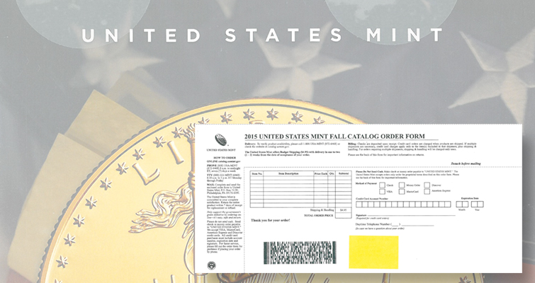 U.S. Mint to drop mail-order forms and mail-order processing
