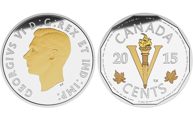Canada issues WWII commemorative silver 5-cent coin