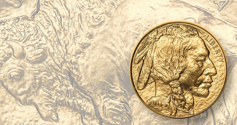 Demand for American Buffalo gold $50 coins in 2015 strong