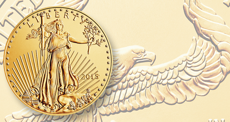 2015 gold 1 ounce American Eagle
