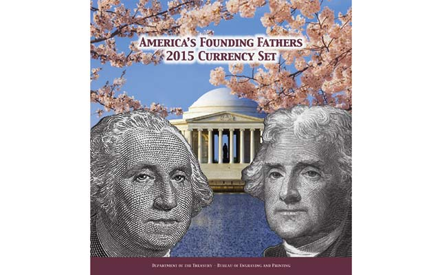Limited-edition America's Founding Fathers 2015 Currency set on sale April 2