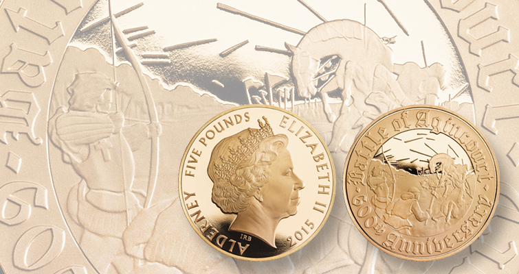 Battle of Agincourt subject of 2015 coins from Royal Mint