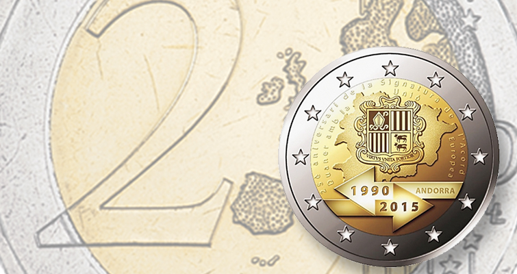 Andorra circulating commemorative 2 euro coins 2015