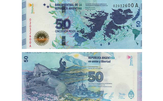 New Argentinean note stakes claim to Falkland Islands