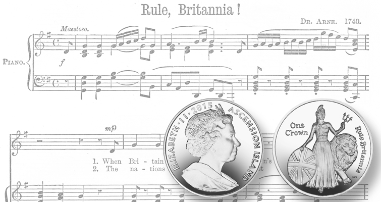 Britannia rules on new coin from Ascension Islands, Pobjoy Mint