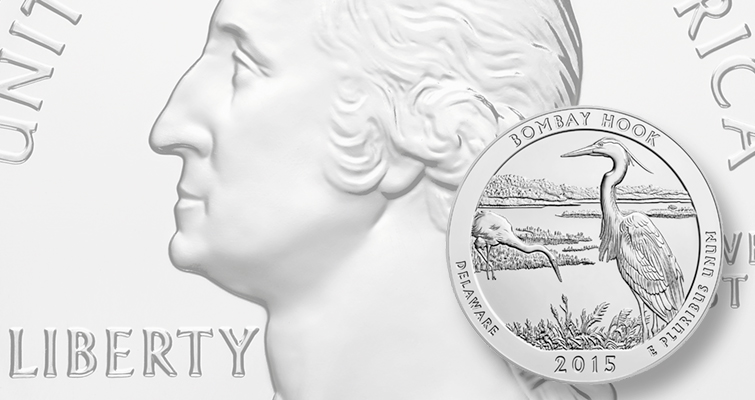 2015 Bombay Hook National Refuge 5-ounce silver coins on sales horizon