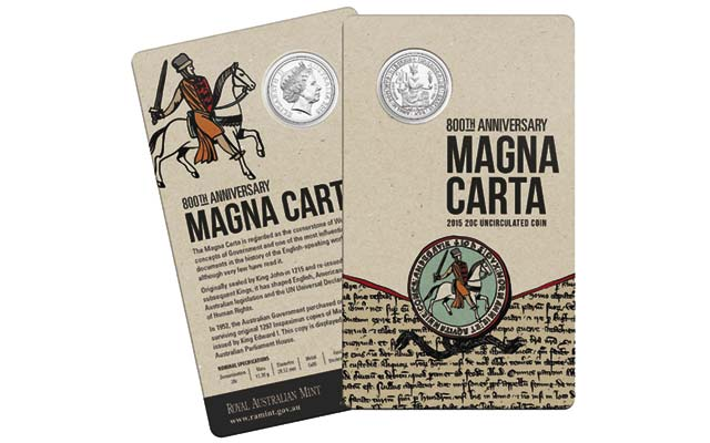 Australian 20-cent coin celebrates Magna Carta's 800th anniversary in 2015