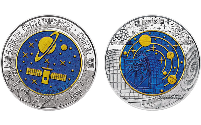 Austrian Mint's newest ringed-bimetallic coin tackles universe origins