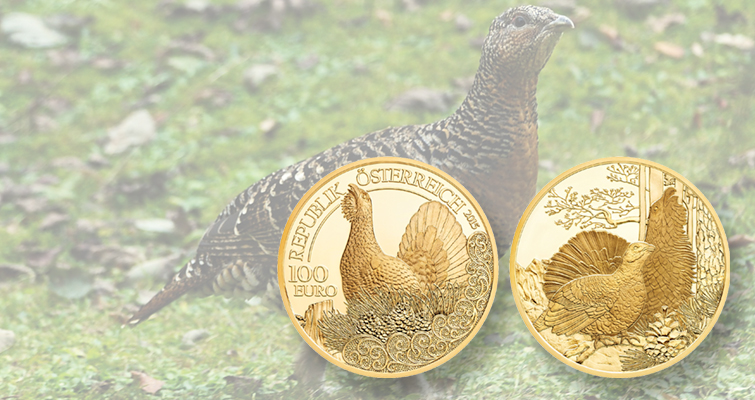 Nothing to grouse about: Austrian Mint continues Wildlife gold coin series