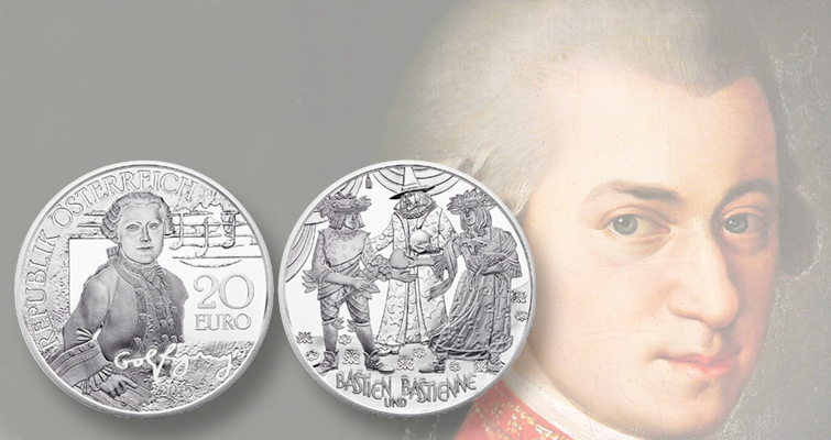 Austrian Mint launches coin series for favorite musician: Wolfgang Amadeus Mozart