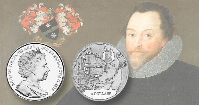 475 years after Sir Francis Drake's birth, Pobjoy Mint celebrates his life