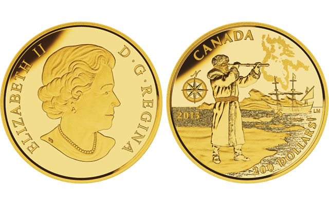 Canada issues golden honor to explorer Henry Hudson in 2015