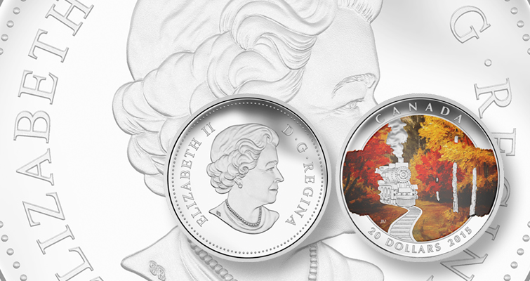 Bold autumn colors available on Royal Canadian Mint's coin