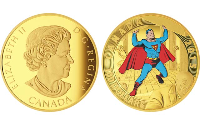 Royal Canadian Mint's Superman commemorative coin series continues