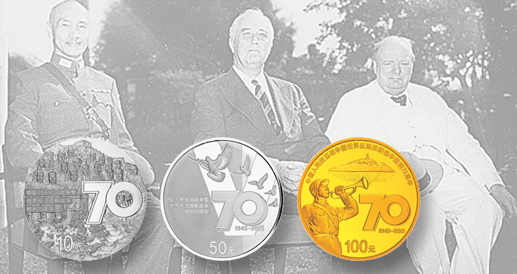 China marks World War II anniversary with three silver, gold coins
