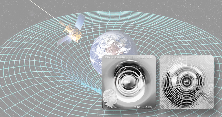 Cook Islands' coin explores space-time continuum dimensionally