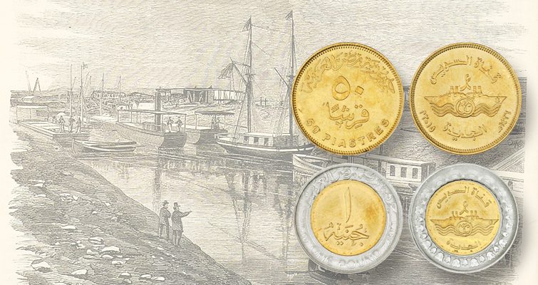 Egypt issues two circulating coins marking Suez Canal expansion