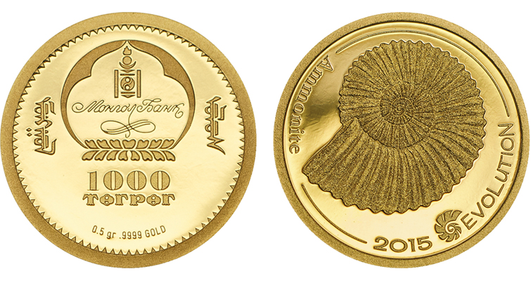2015-evolution-of-life-ammonite-gold-coin