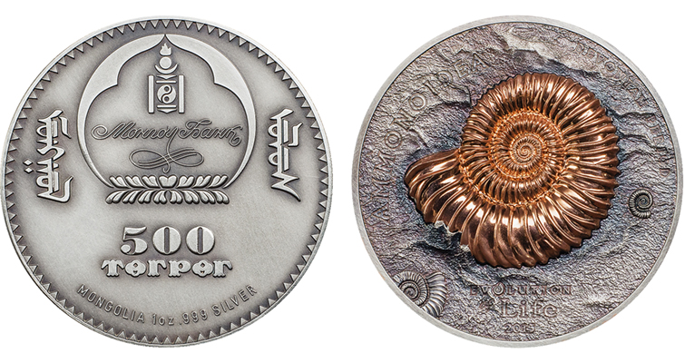 Coin Invest Trust issues ammonite coins for Mongolia