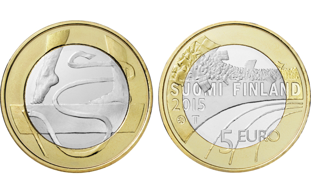 Finland announces series of ringed-bimetallic €5 sport coins