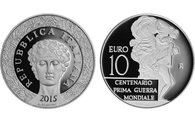 Italy marks World War I anniversary with Proof silver €10 coin on May 5