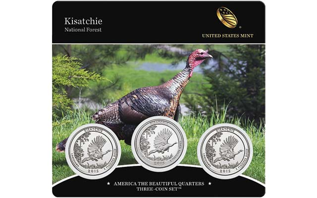 2015 America the Beautiful Quarters Three-Coin Set – Kisatchie National Forest on sale April 23