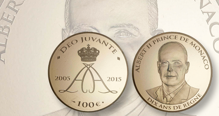 Monaco releases nation's first gold coin, honoring reign of Prince Albert II, since 2008