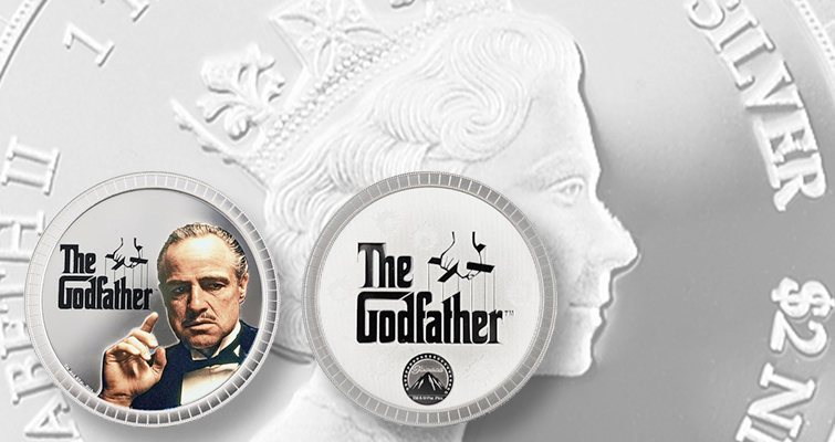 The Godfather Mafia movie makes it on money: new coin shows Brando