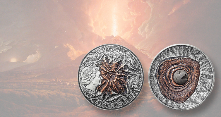 Mount Vesuvius appears on ultra high relief coin for Niue