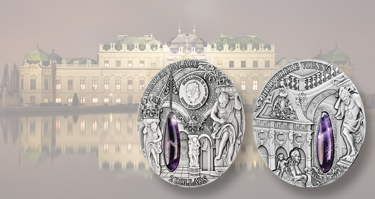 Niue honors palace in Vienna on two-ounce silver coin