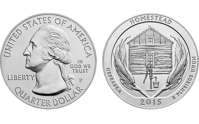 Uncirculated 2015 P Homestead 5 Ounce Silver Coin On Sale
