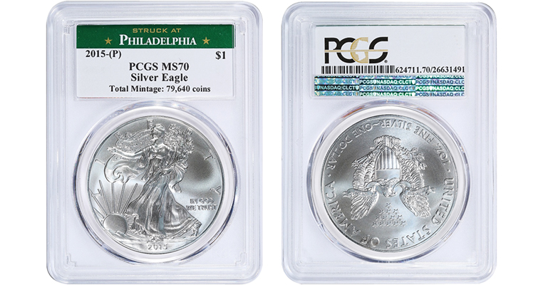 2015 PCGS MS-70 holder merged